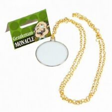 1920's 1940's Gents Monocle on Gold Chain