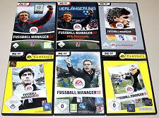 6 PC SPIELE SAMMLUNG - EA FIFA FUSSBALL MANAGER 07 VERLÄNGERUNG 08 09 10 11