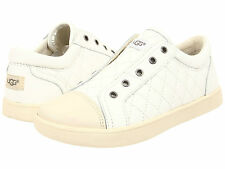UGG Kids Sneakers Slip-On Zinnia Little / Big Kid Quilted Leather White 1009941K