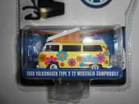 VOLKSWAGEN T2 TYPE 2 WESTFALIA CAMPMOBILE HIPPIE V-DUBS S4 GREENLIGHT 1/64