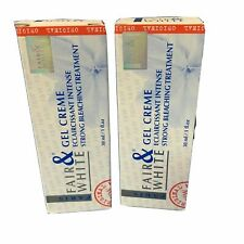 Fare & White Gel Cream (Pack of Two) Eclaircissant Intense Bleaching 1oz x 2