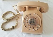 Vintage Western Electric AT&T Tan Rotary Desk Telephone NICE