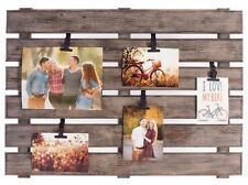 Large Pallet Picture Frame Vertical with 5 Adjustable Clips, 22 x 30 (5-Piece)