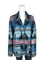 Colorful Southwestern Print Womens Jacket Cotton Blazer Aztec Tribal Size 22?