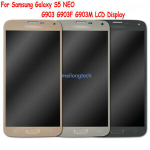 For Samsung Galaxy S5 Neo G903 G903F Amoled LCD Display Touch Screen Digitizer