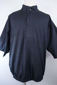 Footjoy Dryjoys Rain Golf Jacket 1/2 Zip Men Size XL Short Sleeves Waterproof