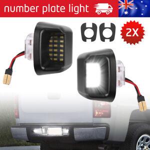 Pair For Nissan Navara D40 LED License Number Plate Lights Rear Bumper Lamp AU