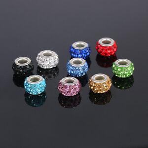 5pcs Crystal Acrylic Charms Beads Fit European Bracelet & Bangle