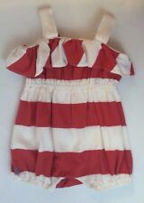 Ralph Lauren Baby Infant One Piece Outfit Girls Size 3M Romper Striped Coral
