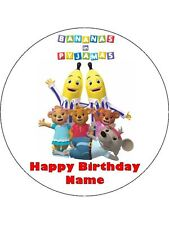 BANANAS IN PYJAMAS 19cm Edible Icing Image Birthday Cake Topper Decoration #1
