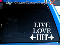 """Live Love LIFT"" Vinyl Decal Sticker / Color -  HIGH QUALITY"