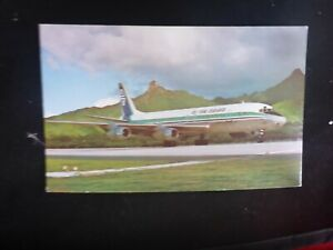 VINTAGE AIR NEW ZEALAND s DC-8   POSTCARD UNUSED  PLANE