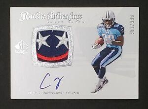 2008 UD SP Authentic Chris Johnson #288 Rookie Patch Autograph Serial # 901/999
