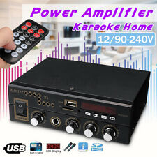 40W 2CH Mini Car Home Amplifier bluetooth HIFI Stereo Amp MP3 FM AUX USB Class-D