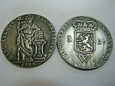 NETHERLANDS WEST INDIES, 1794, 3 Gulden, Fantasy Coin Medal