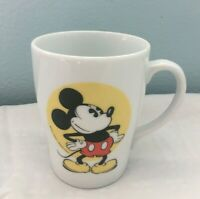 Vintage Walt Disney Prod Porcelain White Coffee Mug Cup Mickey Mouse Japan