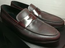 NEW Giorgio Armani ITALY Mens Oxblood Leather Penny Loafers Shoes US12 UK11 $695
