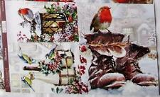 A4 Sheet of Card Toppers Christmas Birds Robin on Light 3 pictures