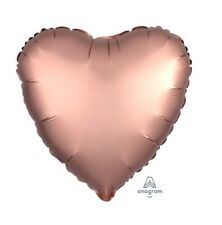 Party Supplies Birthday Engagement Satin Luxe Foil Balloon Rose Copper Heart
