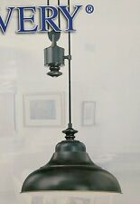 MINKA LAVERY COUNTER WEIGHT PENDANT HANGING LIGHT OIL RUBBED BRONZE FINISH