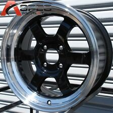 ROTA GRID V 15X7 +20 4X100 BLACK WHEEL FIT INTEGRA CIVIC YARIS MIATA COLT RIO