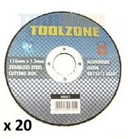 """20 x 4 1/2"""" ANGLE GRINDER TOOL ULTRA THIN METAL S/STEEL CUTTING DISC 1.2mm thick"""