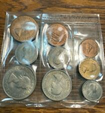 1953 Great Britain Uncirculated 9 Piece Encased Type Set Nice Chn