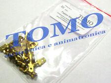 Connettore faston maschio 4,8mm non isolato 20pz FM4.8NI20