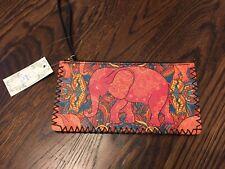 NWT Ole Elephant Wallet Clutch Bag Women Purse Hand Stitched