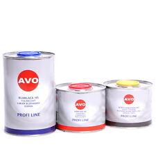 2 Liter 2K HS Klarlack SET Von AVO mit  Härter und Verdünnung Autolack A018