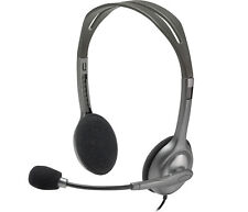 Logitech H110 Stereo Wired 3.5mm Headphone Headset Over-Ear With Mic for PC