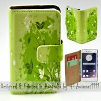 For OPPO Series - Green Leaf Theme Print Wallet Mobile Phone Case Cover