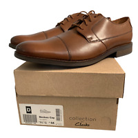 New! Clarks Men's Formal Office Shoes Size Uk 9.5 Brown Leather Lace Up EUR 44