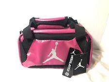 Nike Air Jordan Jumpman Insulated Mini Duffel Lunch Bag Vivid Pink Black