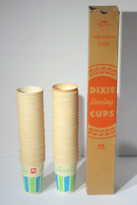 VINTAGE 7 UP SEVEN UP DIXIE VENDING CUPS SLEEVE OF 100 NOS PAPER SODA POP