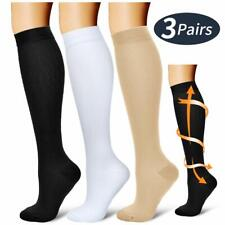 Compression Socks1-3 Pair 20-30mmhg Graduated Support Mens Women for Pain Relief