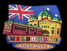 Australian Souvenir Rubber Fridge Magnet Australia Flag Aussie Melbourne Tram