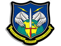 4x4 inch Shaped NORTH AMERICAN AEROSPACE DEFENSE COMMAND Sticker - logo decal