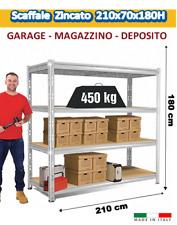 Scaffalatura Industriale ad Incastro Magazzino - ZINCATA H.180cm