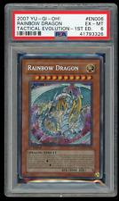 2007 YU-GI-Oh! TAEV-EN006 Rainbow Dragon 1st Edition-PSA 6 EX-MINT-Secret Rare