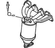 Catalytic Converter fits VAUXHALL ZAFIRA B 1.6 Klarius 55559624 5849036 R1620090