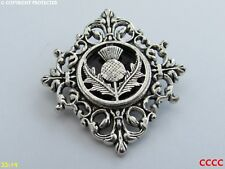 steampunk brooch badge pin thistle Scotland Scottish celtic Gaelic alba