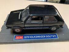 1976 Volkswagen Golf GTi Black 1/18 1:18 Diecast Model Car by SunStar
