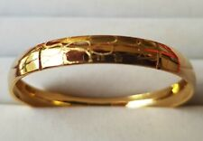 14 Karat Yellow Gold Filled Patterned Bangle 43mm Baby Toddler #125