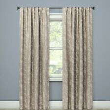 "Threshold Blackout Edalene Curtain Panel 84"" Tan Floral 1 Panel"