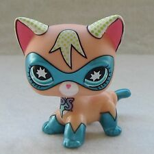 Littlest Pet Shop Animal LPS Toy Shorthair Cat Comic Con Masked Super Hero #28