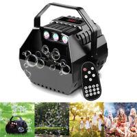 15W Seifenblasenmaschine RGB LED Bühnenlicht Bubble Gerät Kinder DJ Party   J