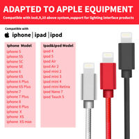 Nylon Braided Fast Charging USB Charger Cable For iPhone X/Xs/Max 8/7/6 Plus 5