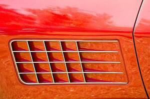 Leinwand Bild Corvette Sting Ray C3 Rot USA Luft Detail