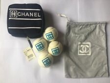 Chanel Tennis Balls with drawstring bag and carrying case